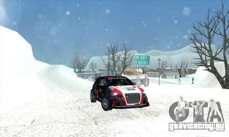 Audi RS3 Sportback Rally WRC для GTA San Andreas двигатель