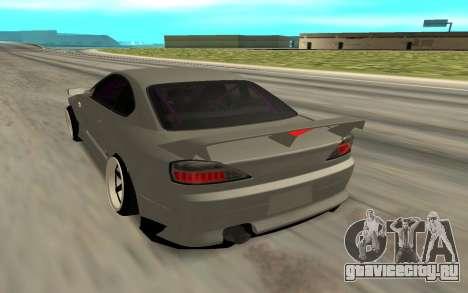 Nissan Silvia S15 Face BMW 46 для GTA San Andreas вид слева