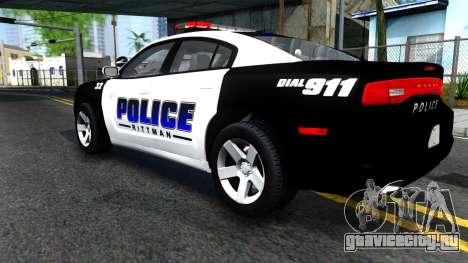 Dodge Charger Rittman Ohio Police 2013 для GTA San Andreas вид сзади