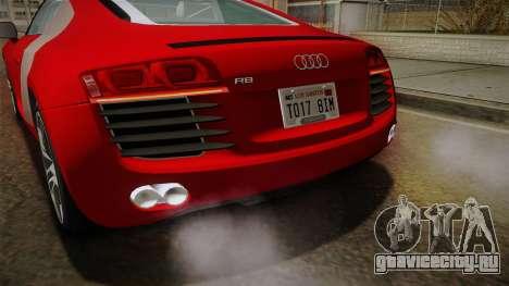 Audi R8 Coupe 4.2 FSI quattro EU-Spec 2008 YCH2 для GTA San Andreas салон
