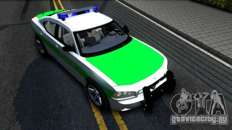 Dodge Charger German Police 2008 для GTA San Andreas вид справа