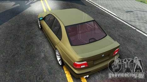 BMW 530D E39 для GTA San Andreas вид справа