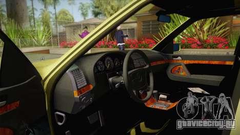 Mercedes-Benz 500SE 1991 v1.1 для GTA San Andreas вид изнутри