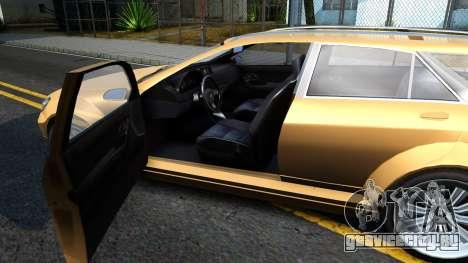 GTA V Benefactor Schafter Wagon для GTA San Andreas вид изнутри