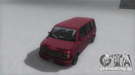 Moonbeam Winter IVF для GTA San Andreas вид сзади слева