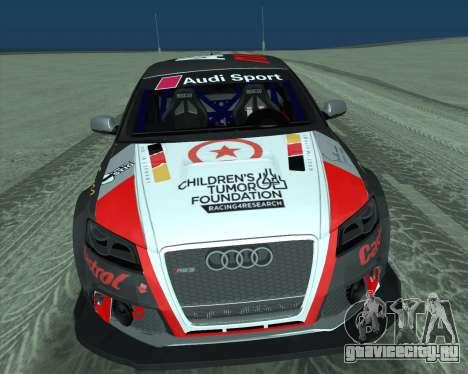 Audi RS3 Sportback Rally WRC для GTA San Andreas вид изнутри