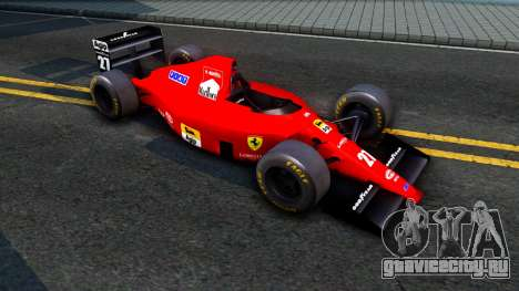 Ferrari 640 F1 1989 для GTA San Andreas вид слева