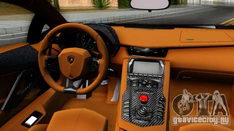 Lamborghini Aventador LP700-4 Light Tune для GTA San Andreas вид изнутри