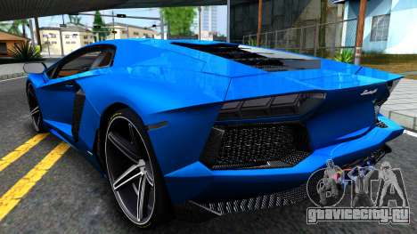 Lamborghini Aventador LP700-4 Light Tune для GTA San Andreas вид сзади слева