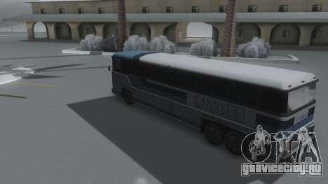 Bus Winter IVF для GTA San Andreas вид слева