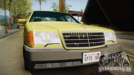 Mercedes-Benz 500SE 1991 v1.1 для GTA San Andreas вид справа