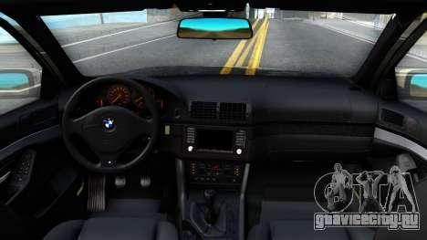 BMW 530D E39 для GTA San Andreas вид изнутри