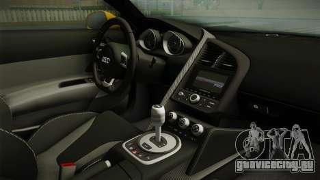Audi R8 Coupe 4.2 FSI quattro EU-Spec 2008 Dirt для GTA San Andreas вид изнутри
