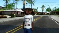 White Beer T-Shirt для GTA San Andreas