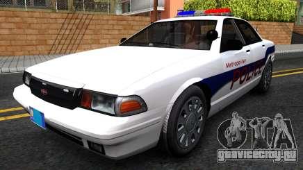 Vapid Stanier Metropolitan Police 2009 для GTA San Andreas
