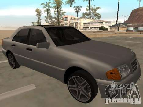 Mercedes-Benz C180 Armenian для GTA San Andreas вид сзади слева