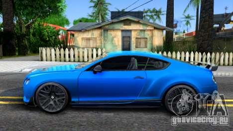 Bentley Continental GT3-R 2015 для GTA San Andreas вид слева