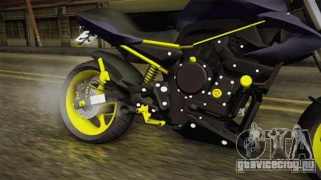 Yamaha XJ6 для GTA San Andreas вид изнутри