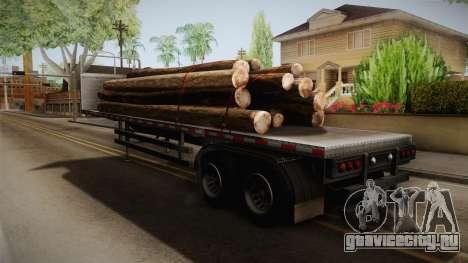 GTA 5 Log Trailer v2 IVF для GTA San Andreas вид сзади слева