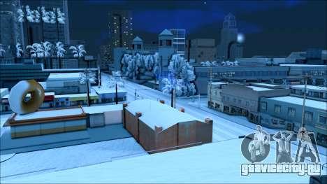 Новый зимний мод для GTA San Andreas пятый скриншот