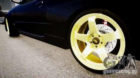 Nissan Skyline GT-R R34 для GTA 4 вид сзади
