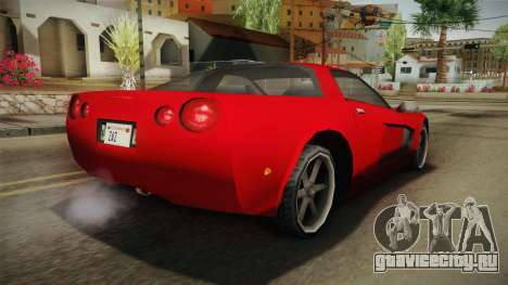 Declasse Coquette 2002 IVF для GTA San Andreas вид слева