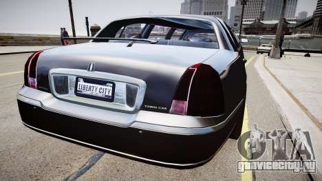 Lincoln Town Car Limousine 2010 для GTA 4 вид сзади слева