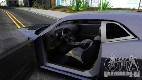 Dodge Challenger Unmarked 2010 для GTA San Andreas вид изнутри