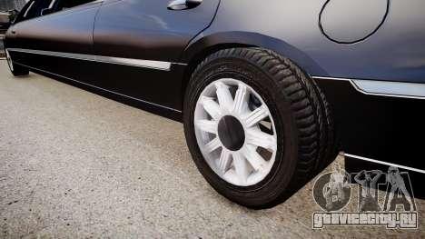 Lincoln Town Car Limousine 2010 для GTA 4 вид сзади