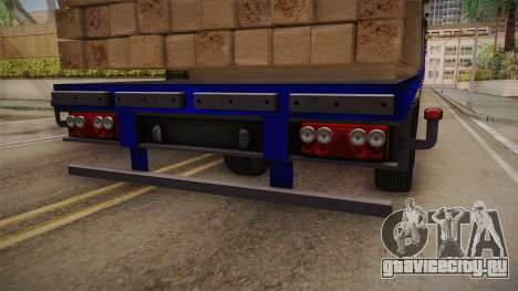 Flatbed Trailer Blue для GTA San Andreas вид изнутри