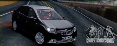 Renault Logan 2016 для GTA San Andreas вид справа