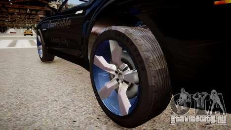 Chevrolet Camaro Concept Police для GTA 4 вид сзади