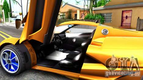 GTA V Progen Anubis для GTA San Andreas вид изнутри