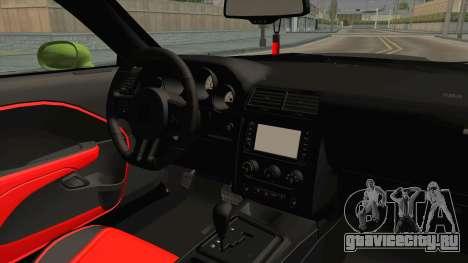 Dodge Challenger Hellcat 2015 для GTA San Andreas вид изнутри