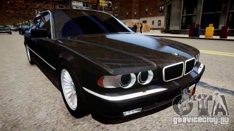 BMW 750iL E38 для GTA 4 вид справа
