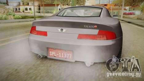 XLS650R для GTA San Andreas вид изнутри