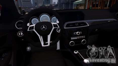 Mercedes-Benz C63 AMG 2012 v1.0 для GTA 4 вид изнутри