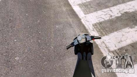 Yamaha Aerox для GTA 4 вид сзади