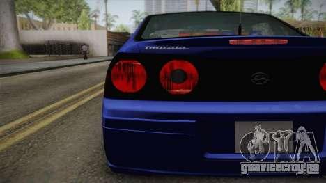 Chevrolet Impala 2004 Detective Unmarked для GTA San Andreas вид сзади