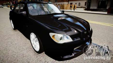 Subaru Impreza WRX STI Spec C Type RA-R 2007 для GTA 4 вид справа