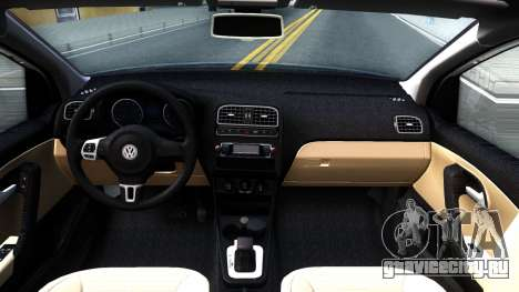 Volkswagen Polo STANCE для GTA San Andreas вид изнутри