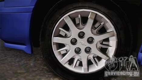 Chevrolet Impala 2004 Detective Unmarked для GTA San Andreas вид сзади слева