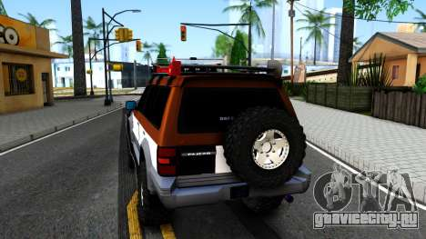 Mitsubishi Pajero Off-Road для GTA San Andreas вид сзади слева