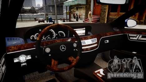 Mercedes Benz S500 T для GTA 4 вид изнутри