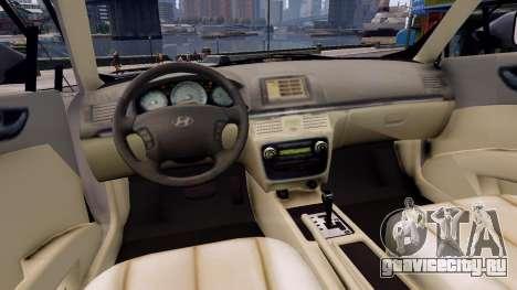 Hyundai Sonata 2011 для GTA 4 вид изнутри