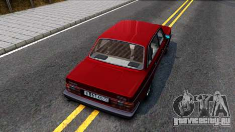 Volvo 244 Turbo для GTA San Andreas вид сзади