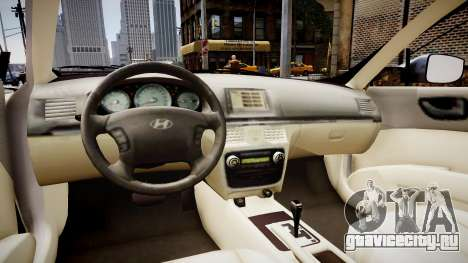 Hyundai Sonata v2 2011 для GTA 4 вид изнутри
