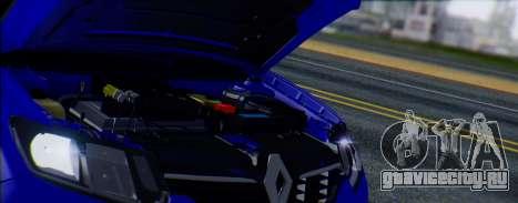 Renault Logan 2016 для GTA San Andreas вид сзади