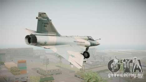 EMB Dassault Mirage 2000-C FAB для GTA San Andreas вид сзади
