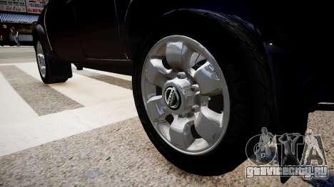 Nissan Navara Pickup Crew Cab для GTA 4 вид сзади
